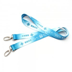 Diversified imprinted polyester lanyard with logo customized cheap gift