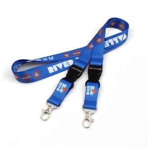 Promotional sublimation printing lanyard with metal hook