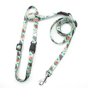 Cheap walking pet polyester customized hot sale dog hands free leash
