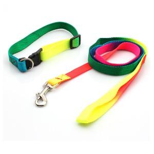 Good Quality Dye Sublimation Lanyard - Customized pattern heat transfer printing comfortable dog collar leash – February Webbing