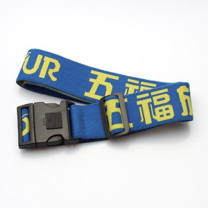 Factory OEM high quality woven luggage belt with adjustable buckle