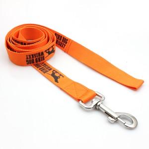 OEM factory custom design polyester woven training dog leash set